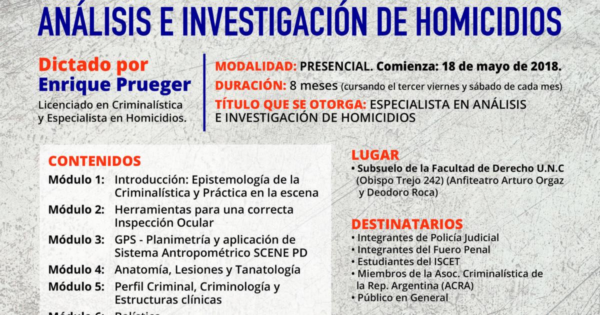Curso de Capacitación Análisis e Investigación de Homicidios ...