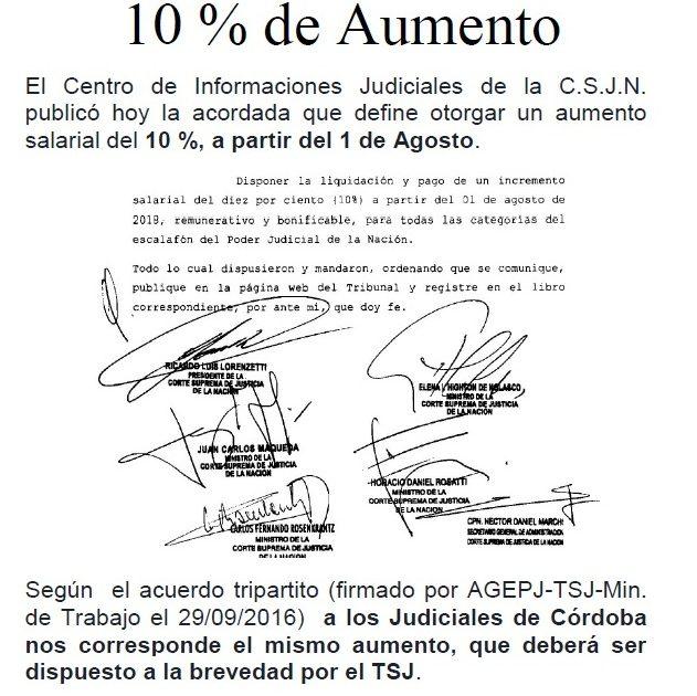 d55f4d8f90 DIEZ POR CIENTO DE AUMENTO A PARTIR DE AGOSTO – Judiciales