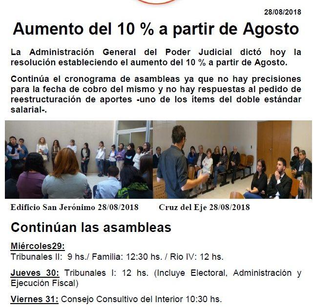 eea1a6f2b0 Aumento del 10 % a partir de Agosto – Judiciales